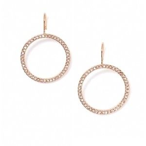 Kate Spade • Crystal Circle Hoops Earrings • Gold
